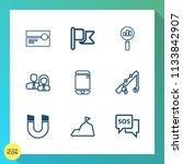 modern  simple vector icon set... | Shutterstock .eps vector #1133842907