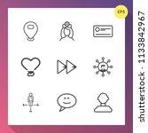 modern  simple vector icon set... | Shutterstock .eps vector #1133842967