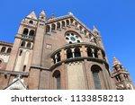 szeged votive church in hungary.... | Shutterstock . vector #1133858213
