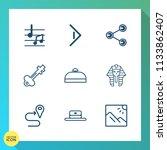 modern  simple vector icon set... | Shutterstock .eps vector #1133862407