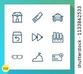modern  simple vector icon set... | Shutterstock .eps vector #1133862533