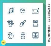 modern  simple vector icon set... | Shutterstock .eps vector #1133862653