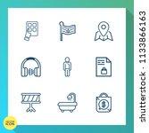 modern  simple vector icon set... | Shutterstock .eps vector #1133866163