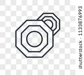 settings vector icon isolated... | Shutterstock .eps vector #1133876993