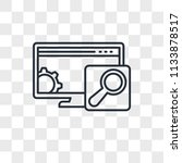 browser vector icon isolated on ... | Shutterstock .eps vector #1133878517