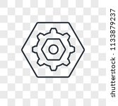 settings vector icon isolated... | Shutterstock .eps vector #1133879237