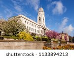 barnsley town hall on a fine... | Shutterstock . vector #1133894213