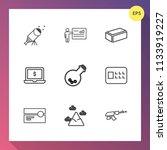 modern  simple vector icon set... | Shutterstock .eps vector #1133919227