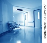 chairs in the hospital hallway. ... | Shutterstock . vector #113391997