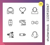 modern  simple vector icon set... | Shutterstock .eps vector #1133920067