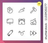 modern  simple vector icon set... | Shutterstock .eps vector #1133920277