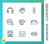 modern  simple vector icon set... | Shutterstock .eps vector #1133920283