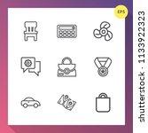 modern  simple vector icon set... | Shutterstock .eps vector #1133922323