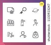 modern  simple vector icon set... | Shutterstock .eps vector #1133923247