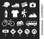 travel icons set4. vector eps 10 | Shutterstock .eps vector #113393827