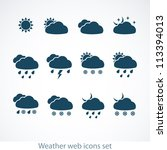 set of weather web icons.... | Shutterstock .eps vector #113394013