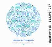 information technology in... | Shutterstock .eps vector #1133954267