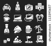 hotel icons set5. vector eps 10 | Shutterstock .eps vector #113395657