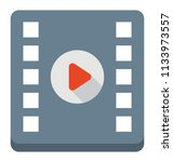 a film strip with video player...