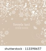 pastel greeting card | Shutterstock .eps vector #113398657