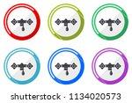water web vector icons  set of... | Shutterstock .eps vector #1134020573