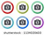 financial web vector icons  set ... | Shutterstock .eps vector #1134020603
