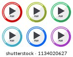 play web vector icons  set of... | Shutterstock .eps vector #1134020627