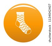 nice sock icon. simple... | Shutterstock .eps vector #1134042407