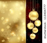 background with christmas... | Shutterstock .eps vector #113404777