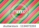 faceless christmas colors style ... | Shutterstock .eps vector #1134072203