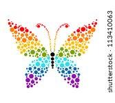 dots in shape of butterfly ... | Shutterstock .eps vector #113410063