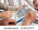 business adviser analyzing... | Shutterstock . vector #113411377