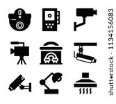 filled technology icon set such ... | Shutterstock .eps vector #1134156083