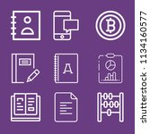 outline business icon set such... | Shutterstock .eps vector #1134160577