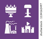 filled buildings icon set such... | Shutterstock .eps vector #1134162497