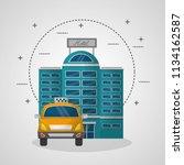 hotel building facade travel... | Shutterstock .eps vector #1134162587