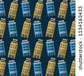 hotels building facade... | Shutterstock .eps vector #1134163433