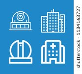 outline buildings icon set such ... | Shutterstock .eps vector #1134163727
