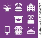 filled buildings icon set such... | Shutterstock .eps vector #1134164777