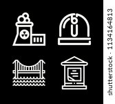 outline buildings icon set such ... | Shutterstock .eps vector #1134164813