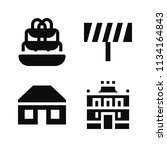 filled buildings icon set such... | Shutterstock .eps vector #1134164843
