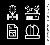 outline buildings icon set such ... | Shutterstock .eps vector #1134166157