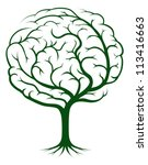 brain tree illustration  tree... | Shutterstock .eps vector #113416663