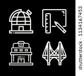 outline buildings icon set such ... | Shutterstock .eps vector #1134167453