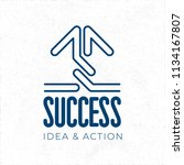 success hand crafted logo... | Shutterstock .eps vector #1134167807