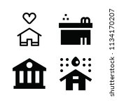 filled buildings icon set such... | Shutterstock .eps vector #1134170207