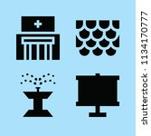 filled buildings icon set such... | Shutterstock .eps vector #1134170777