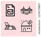 outline buildings icon set such ... | Shutterstock .eps vector #1134170807