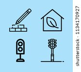 outline buildings icon set such ... | Shutterstock .eps vector #1134170927