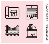 outline buildings icon set such ... | Shutterstock .eps vector #1134170993